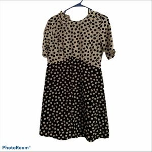 ASOS Black and White Polka Dot Mini Dress